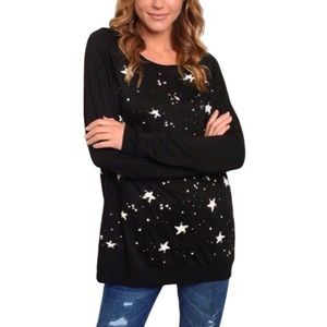 SEEING STARS RELAXED SWEATSHIRT SMALL NEW